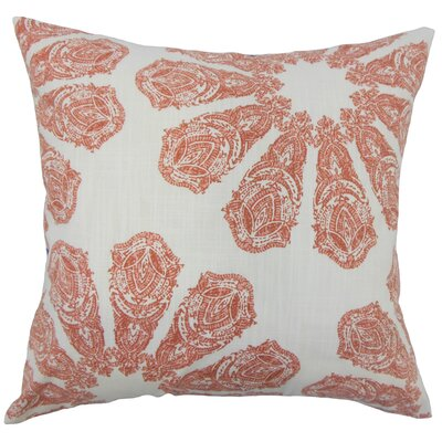 Pismo Beach Ikat Down Filled 100% Cotton Lumbar Pillow Color: Coral