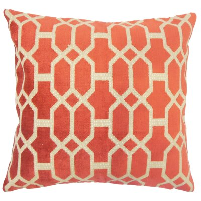 Veronika Geometric Cayenne Floor Pillow