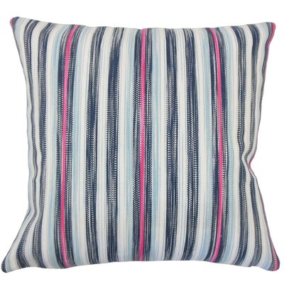 Danube Striped Floor Pillow Color: Blue/Pink
