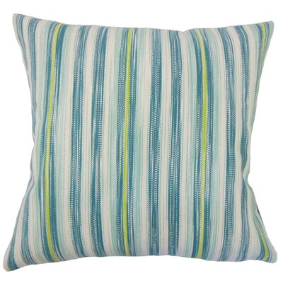 Danube Striped Floor Pillow Color: Aqua/Green