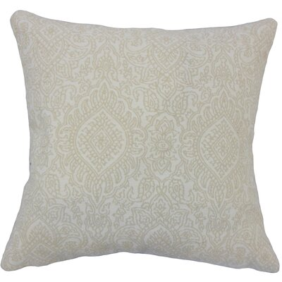 Corte Madera Damask Down Filled 100% Cotton Throw Pillow Size: 22 x 22, Color: Jute