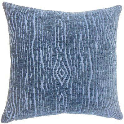 Cotulla Solid Down Filled Lumbar Pillow Color: Navy