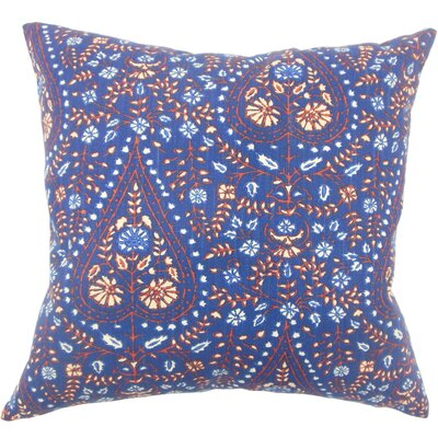 Zyra Down Filled 100% Cotton Lumbar Pillow Color: Indigo