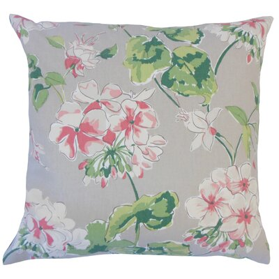 Cesare Floral Down Filled 100% Cotton Throw Pillow Size: 22 x 22, Color: Celadon