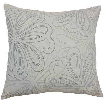 Pomona Floral Throw Pillow Cover Color: Steel