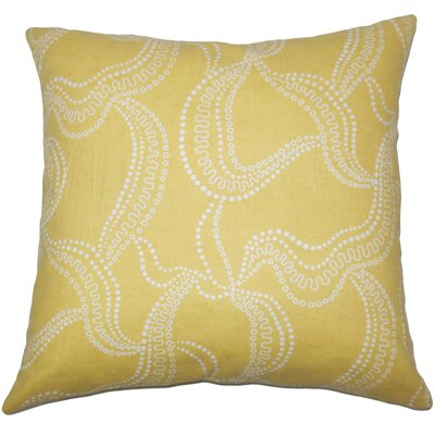 Youvani Graphic Throw Pillow Cover Size: 18 x 18, Color: Buttercup