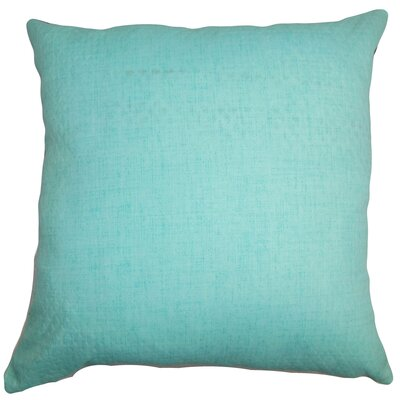 Haloke Solid Outdoor Throw Pillow Size: 18x18