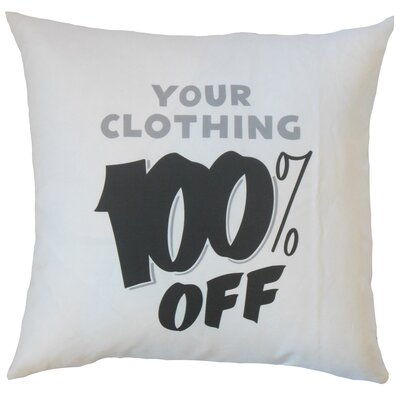 Your Clothing 100% Off Cotton Throw Pillow