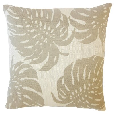 Quaniece Outdoor Down Filled Throw Pillow Size: 24 x 24, Color: Wheat
