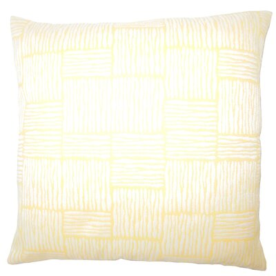 Usher Geometric Down Filled Lumbar Pillow Color: Orange