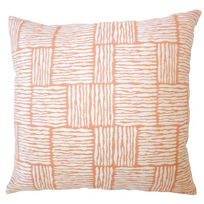 Usher Geometric Down Filled Throw Pillow Size: 24 x 24, Color: Orange