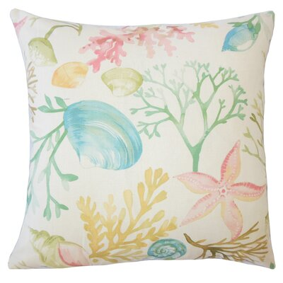 Harrisville Coastal Down Filled 100% Cotton Throw Pillow Size: 18 x 18