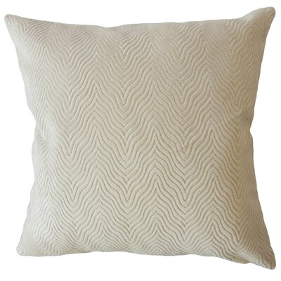 Chesterwood Solid Down Filled Throw Pillow Size: 18 x 18, Color: Oatmeal