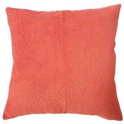 Chesterman Solid Down Filled Lumbar Pillow Color: Melon