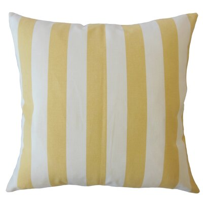 Promfret Striped Down Filled 100% Cotton Lumbar Pillow Color: Banana