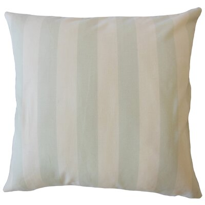 Promfret Striped Down Filled 100% Cotton Throw Pillow Size: 18 x 18, Color: Light Blue