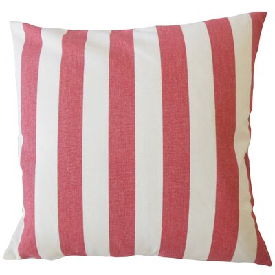 Promfret Striped Down Filled 100% Cotton Throw Pillow Size: 22 x 22, Color: Pepper