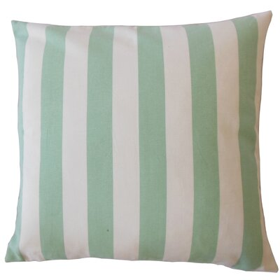 Promfret Striped Down Filled 100% Cotton Throw Pillow Size: 18 x 18, Color: Seafoam