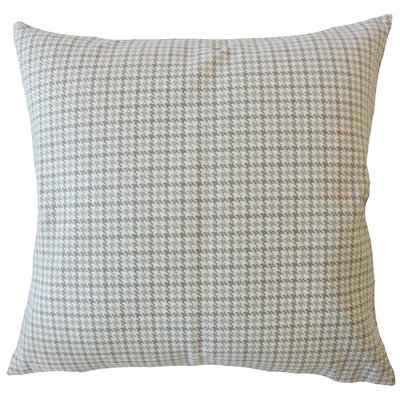 Neco Houndstooth Down Filled 100% Cotton Lumbar Pillow