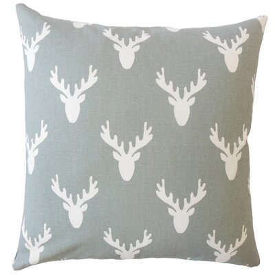Altha Graphic Down Filled 100% Cotton Lumbar Pillow Color: Cool Gray