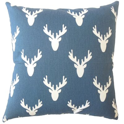 Altha Graphic Down Filled 100% Cotton Lumbar Pillow Color: Navy Twill