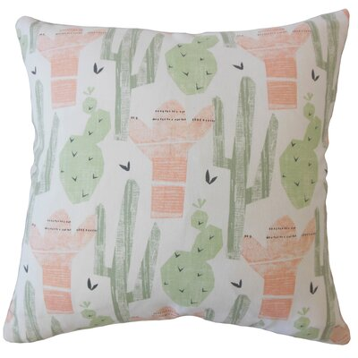 Ayotte Graphic Down Filled 100% Cotton Throw Pillow Size: 18 x 18, Color: Sundown