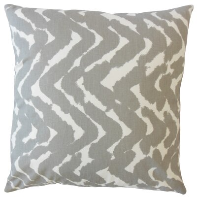 Kitson Zigzag Down Filled 100% Cotton Throw Pillow Size: 18 x 18, Color: Twill