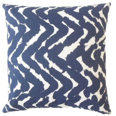 Kitson Zigzag Down Filled 100% Cotton Lumbar Pillow Color: Indigo