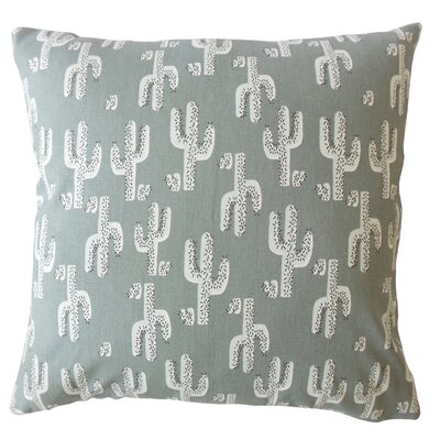 Costa Mesa Graphic Down Filled 100% Cotton Throw Pillow Size: 24 x 24, Color: Gray