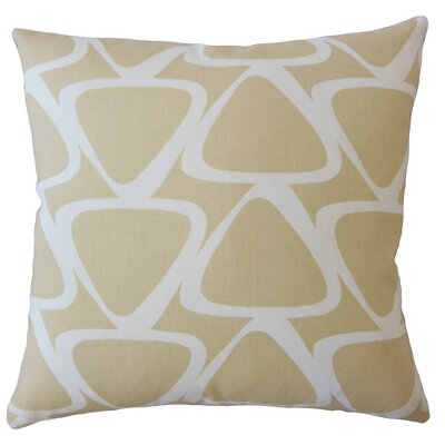 Ann Geometric Down Filled 100% Cotton Lumbar Pillow Color: Camel