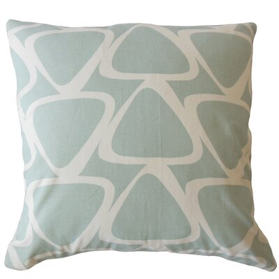Ann Geometric Down Filled 100% Cotton Lumbar Pillow Color: Honey Dew