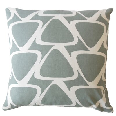 Ann Modern Geometric Down Filled 100% Cotton Lumbar Pillow