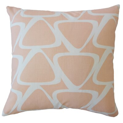 Ann Geometric Down Filled 100% Cotton Lumbar Pillow Color: Sundown