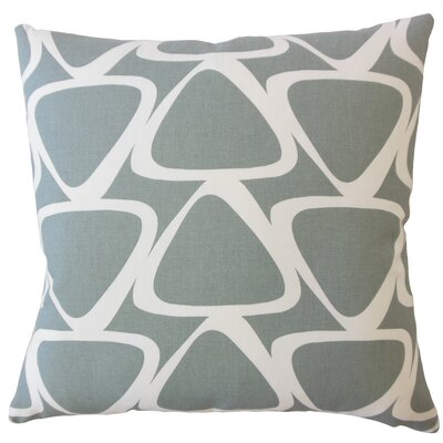 Ann Geometric Down Filled 100% Cotton Lumbar Pillow Color: Gray