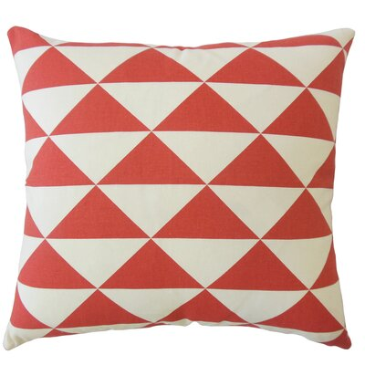 Wiedman Geometric Down Filled 100% Cotton Lumbar Pillow Color: Red