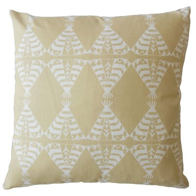 Vail Geometric Down Filled 100% Cotton Lumbar Pillow Color: Camel