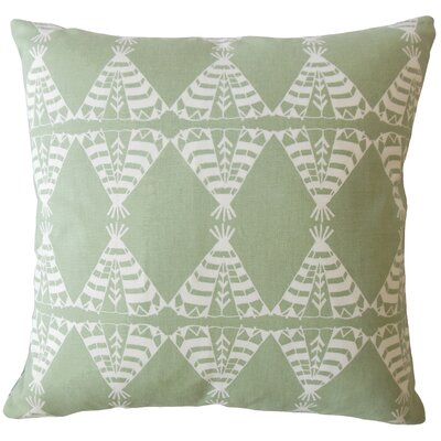 Vail Geometric Down Filled 100% Cotton Throw Pillow Size: 18 x 18, Color: Green