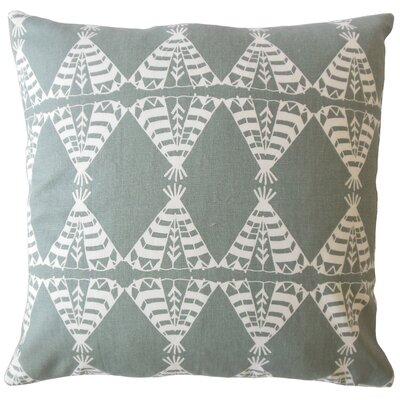 Vail Geometric Down Filled 100% Cotton Lumbar Pillow Color: Gray