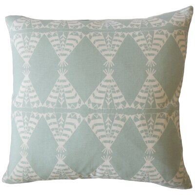 Vail Geometric Down Filled 100% Cotton Lumbar Pillow Color: Dew