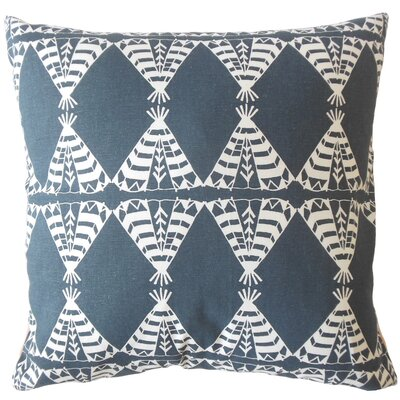 Vail Geometric Down Filled 100% Cotton Lumbar Pillow Color: Blue