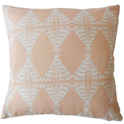 Vail Geometric Down Filled 100% Cotton Lumbar Pillow Color: Sundown