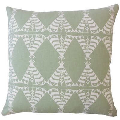Vail Geometric Down Filled 100% Cotton Lumbar Pillow Color: Sundown/Green
