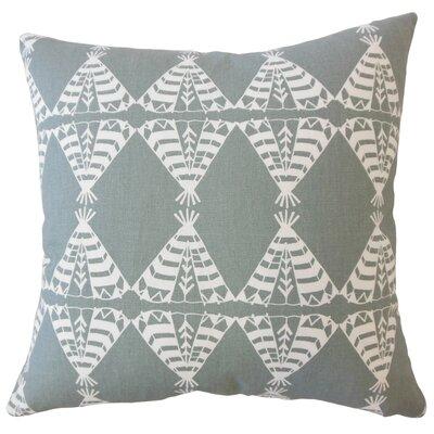 Vail Geometric Down Filled 100% Cotton Lumbar Pillow Color: Sundown/Gray