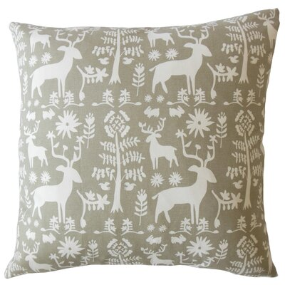 Avondale Animal Print Down Filled 100% Cotton Throw Pillow Size: 22 x 22, Color: Driftwood