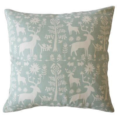 Avondale Animal Print Down Filled 100% Cotton Throw Pillow Size: 22 x 22, Color: Honey Dew