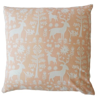 Avondale Animal Print Down Filled 100% Cotton Lumbar Pillow Color: Sundown