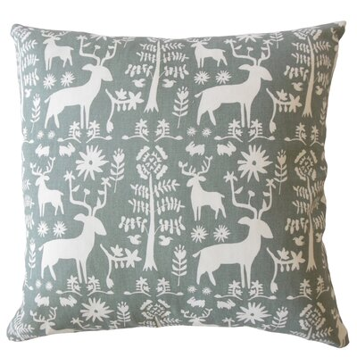 Avondale Animal Print Down Filled 100% Cotton Lumbar Pillow Color: Sundown/Gray
