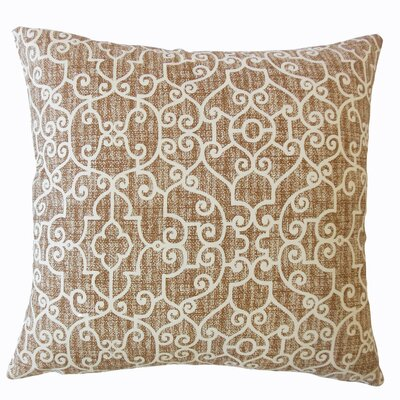 Donata Animal Print Down Filled 100% Cotton Throw Pillow Size: 24 x 24, Color: Brown