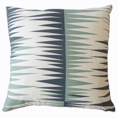 Wetzel Geometric Down Filled 100% Cotton Lumbar Pillow Color: Blue