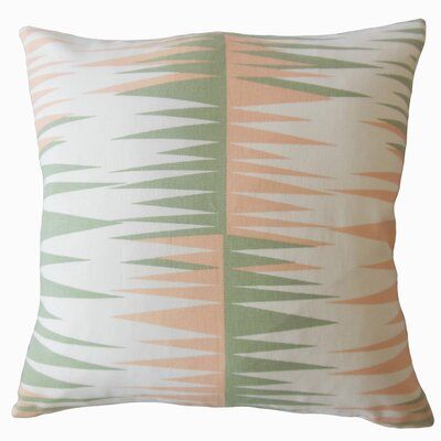 Wetzel Geometric Down Filled 100% Cotton Lumbar Pillow Color: Sundown